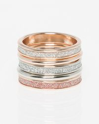 Le Chateau - Five Glitter Rings - Lyst