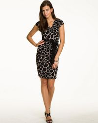 Le Chateau - Giraffe Print Faux Wrap Dress - Lyst