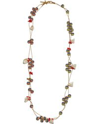 Lele Sadoughi - Striped Shell Necklace - Lyst