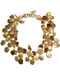Lele Sadoughi - Golden Lily Necklace - Lyst
