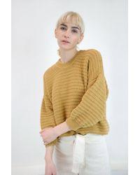 Micaela Greg - Roll Rib Sweater   Maize - Lyst