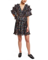 Opening Ceremony | Marble Ruffle Blouse | Black Multi | Lyst