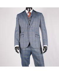 leonard silver | Herringbone Check Suit Blue | Lyst
