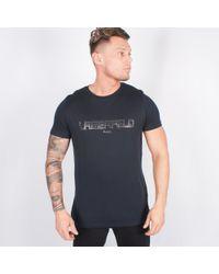 Lagerfeld - Navy T-shirt - Lyst