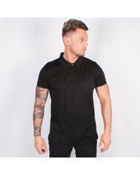 Lagerfeld - Black Jersey Polo Shirt - Lyst