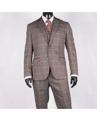 leonard silver | Herringbone Check Suit Brown | Lyst