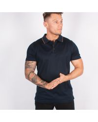 Lagerfeld - Navy Jersey Polo Shirt - Lyst