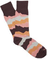 Etiquette - Seismic Patterned Socks - Lyst