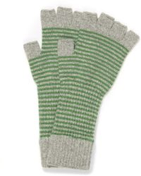 Jo Gordon - Fine Stripe Lambswool Fingerless Gloves - Lyst