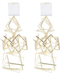 Diana Broussard - Spitale Mirror And Resin Geometric Structure Earrings - Lyst