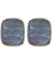 Stephen Dweck - Silver Carved Dragon Crystal Quartz Earrings - Lyst
