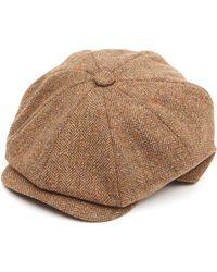 688cde64 Lyst - Christys' Summer Linen Balmoral Cap in Natural for Men