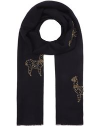Janavi - Embroidered Alpaca Cashmere Scarf - Lyst