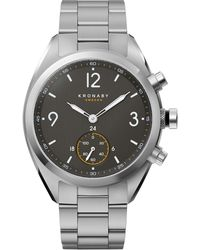 Kronaby - Apex Stainless Steel Silver Metal Strap Watch - Lyst