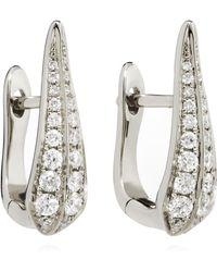 Annoushka - 18ct White Gold Diamond Hoop Earrings - Lyst