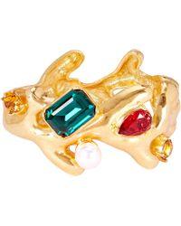 Oscar de la Renta - Coral Crystal Cuff Bracelet - Lyst