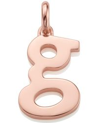 Monica Vinader | Rose Gold-plated Alphabet Pendant G | Lyst