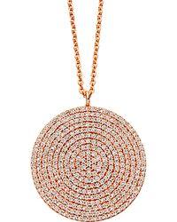 Astley Clarke - Rose Gold Large Icon Diamond Pendant Necklace - Lyst