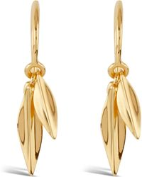 Dinny Hall - Gold-plated Double Leaf Drop Earrings - Lyst