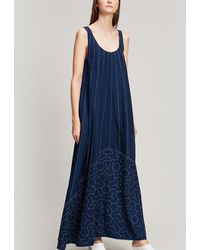 Elizabeth and James - Oasis Embroidered Cotton Maxi Dress - Lyst