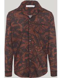 Desmond & Dempsey - Hercules Print Cotton Pyjama Shirt - Lyst
