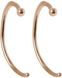 Melissa Joy Manning - Angled Hug Hoop Earrings - Lyst
