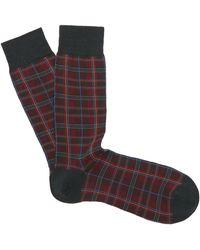 Pantherella Tartan Wool-blend Socks - Multicolour
