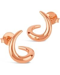 Dinny Hall - Rose Gold-plated Toro Small Twist Stud Earrings - Lyst