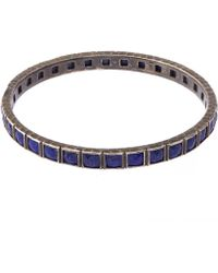 Nak Armstrong - Sterling Silver Lapis Lazuli Bangle - Lyst
