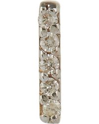 Kismet by Milka - Gold And White Diamond Stick Stud Earrings - Lyst