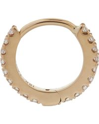 "Maria Tash - 1/4"" Diamond Eternity Earring - Lyst"