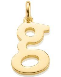 Monica Vinader - Gold Capital K Pendant - Lyst