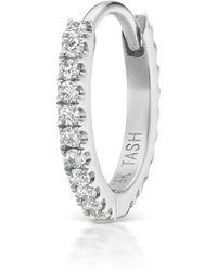 "Maria Tash - 5/16"" Diamond Eternity Hoop Earring - Lyst"