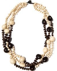 Eskandar - Black And White Three Strand Necklace - Lyst