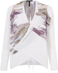 Sarah Pacini - Purple Guigou Wrap Round Long Sleeve Graphic Cardigan - Lyst