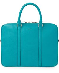 Paul Smith - Turquoise Business Folio Bag - Lyst