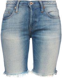 NSF - Denim Jane Braided Boyfriend Shorts - Lyst