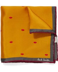 Paul Smith | Lips Pocket Square | Lyst