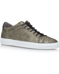 H by Hudson - Gold Racquet Trainers - Lyst