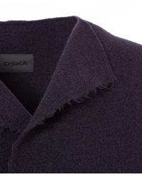 Oska - Raven Boiled Wool Frayed Hem Coat - Lyst