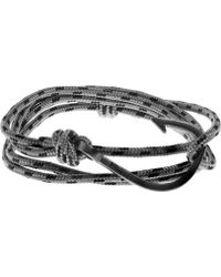 Miansai - Grey Silver-plated Anchor Bracelet - Lyst
