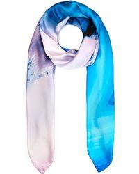 Weston - Blue Mineral Silk Shawl - Lyst