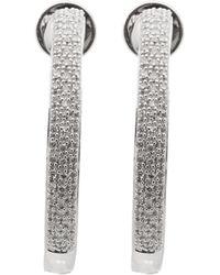 Monica Vinader - Silver Fiji Large Diamond Hoop Earrings - Lyst