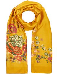 Etro - Embroidered Floral Scarf - Lyst