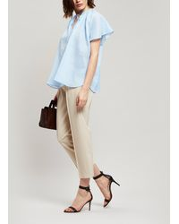 JOSEPH - Rita Silk Tie-neck Top - Lyst