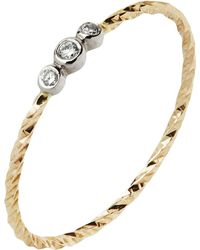 Maria Black - Gold Diamond Cut Jessa Blanc Ring - Lyst