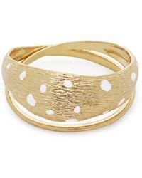 Rejina Pyo - Gold-plated Eden Leopard Enamel Cuff Bracelet - Lyst