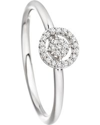 Astley Clarke - White Gold Mini Icon Aura Diamond Ring - Lyst