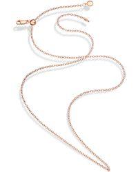 Monica Vinader - Vermeil Rolo Chain 56-61cm - Lyst