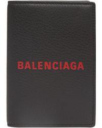 Balenciaga - Logo Passport Card Holder - Lyst